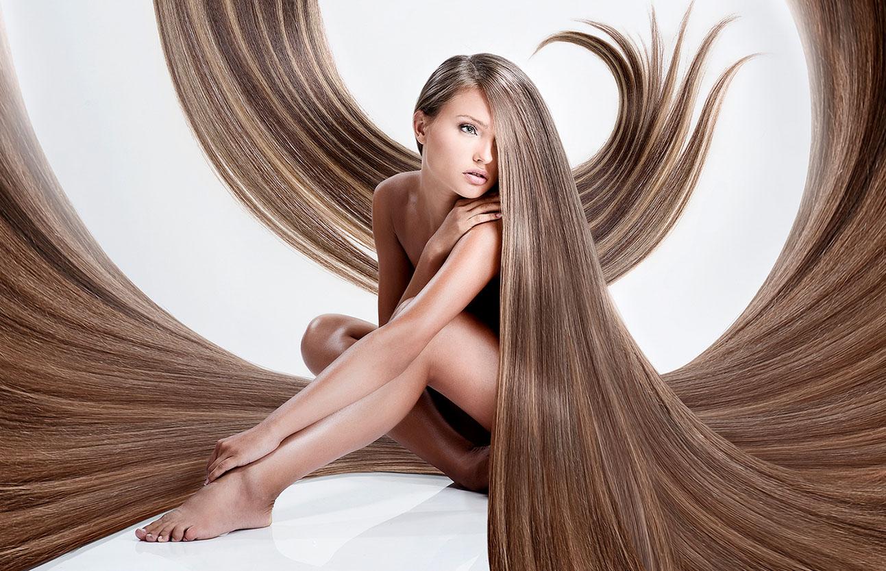 очень много волос)