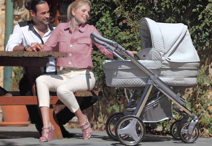 папа, мама, серая коляска