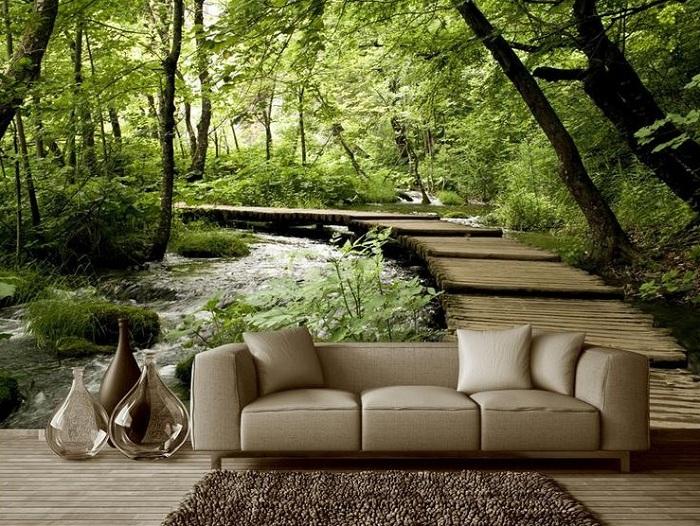 диван перед мостом