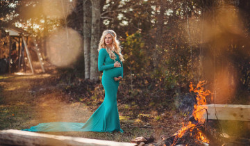 беременная на удице