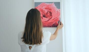 роза на картине