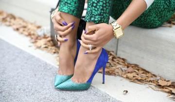 сине-зеленые туфли